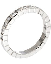 Chopard Ice Cube Pure 18k White Gold Half-set Diamond Ring