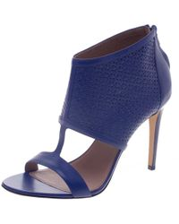2dc93c265640 Ferragamo - Embossed Leather Pacella Open-toe Sandals - Lyst