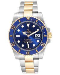 Rolex Blue 18k Yellow Gold Stainless Steel Submariner 116613 Men's Wristwatch 40 Mm