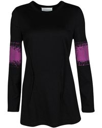 Maison Margiela Black Contrast Print Long Sleeve Tunic