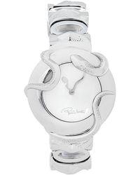 Roberto Cavalli Silver Stainless Steel Snake R7253165515 Wristwatch - Metallic