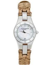 Baume & Mercier White Stainless Steel Linea 65690 Wristwatch 27 Mm