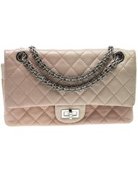 f02d75ae55fb Chanel - Multicolor Quilted Leather Reissue 2.55 Classic 225 Flap Bag - Lyst