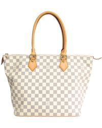 Louis Vuitton Damier Azur Canvas Saleya Mm Tote - Multicolour