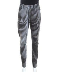 Chanel Grey Wash Effect Denim Regular Fit Jeans