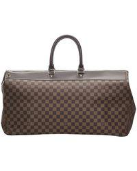 Louis Vuitton Damier Ebene Canvas Greenwich Gm Bag - Brown