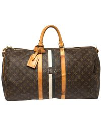 Louis Vuitton Mon Monogram Canvas Keepall Bandouliere 55 Bag - Brown