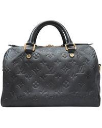 Louis Vuitton Black Empreinte Leather Speedy Bandoulière 25 Bag