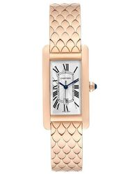 Cartier Silver 18k Yellow Gold Stainless Steel And Diamond Miss Pasha Wj124015 Women's Wristwatch 26mm - Metallic