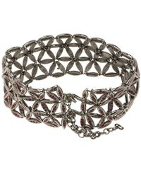 Dior - Red Crystals Tone Choker Necklace - Lyst