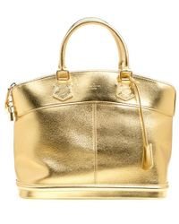 Louis Vuitton Lockit Mm Suhali Leather Tote - Metallic