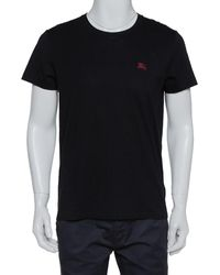 Burberry Black Cotton Crewneck T-shirt