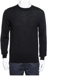 Dior Homme Black Wool Crewneck Sweater