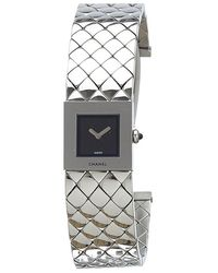 Chanel - Stainless Steel Quilted Mademoiselle Women's Wristwatch 19mm - Lyst
