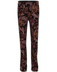 Etro - Multicolor Paisley Printed Straight Fit Trousers S - Lyst