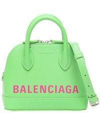 Balenciaga Lime Green Leather Ville