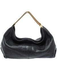 Furla Black Leather Luna Hobo