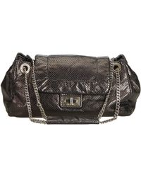 Chanel - Black Perforated Drill Accordion Flap Shoulder Bag - Lyst