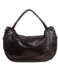 Bottega Veneta - Sequins Leather Ebano Paillette Hobo - Lyst