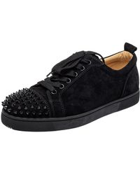 Christian Louboutin Black Suede Louis Junior Trainers