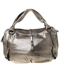 Céline Metallic Leather Medium Bittersweet Hobo