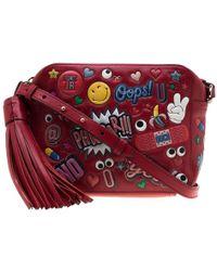 Anya Hindmarch - Red Leather Wink Sticker Crossbody Bag - Lyst