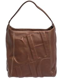 Carolina Herrera Tan Leather Hobo - Brown