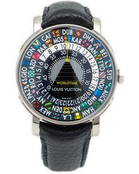 Louis Vuitton Black Titanium Escale Worldtime Wristwatch