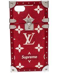 Louis Vuitton X Supreme Monogram Eye Trunk Iphone 7 Plus Case - Red