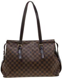 1642357cb1191 Louis Vuitton American Cube Shoulder Bag Damier Jean White in White ...