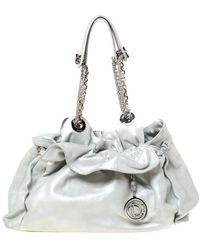 Dior Silver Suede Le Trente Hobo - Metallic
