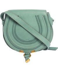 Chloé Fresh Mint Blue Leather Mini Marcie Crossbody Bag