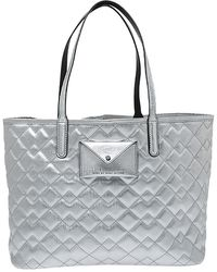 Marc By Marc Jacobs Silver Quilted Pvc Metropolitote Tote - Metallic