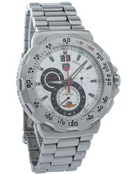 Tag Heuer Silver Stainless Steel Formula 1 Cah101b Indy 500 Chronograph Quartz Wristwatch 44mm - Metallic