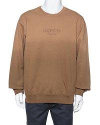 Supreme Brown Dipped Cotton Crew Neck Sweatshirt