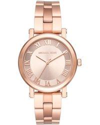 73273a376f96 Michael Kors - Rose Plated Steel Norie Mk3561 Women s Wristwatch 38mm - Lyst