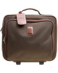 Longchamp - Military /brown Canvas Boxford Carry On Luggage - Lyst