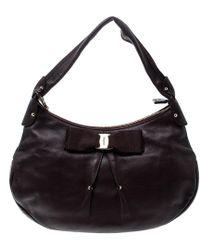 Ferragamo - Leather Miss Vara Hobo - Lyst