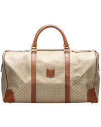Celine Brown/beige Macadam Canvas Travel Bag - Natural
