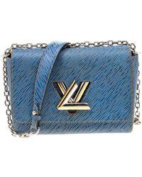 Louis Vuitton Denim Epi Leather Twist Mm Bag - Blue