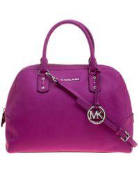 MICHAEL Michael Kors Pink Saffiano Leather Satchel
