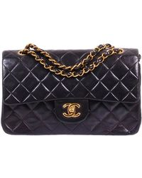 Chanel Black Quilted Leather Small Classic Double Flap Bag