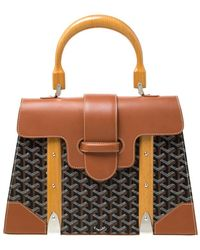 Goyard Saïgon Brown Leather Handbag