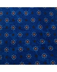 Brioni Blue Paisley And Floral Print Silk Tie
