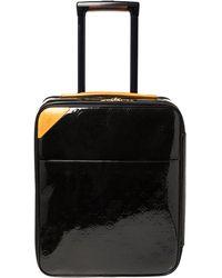 Louis Vuitton Vert Bronze Monogram Vernis Pegase 45 Suitcase - Blue