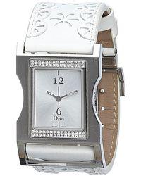 Dior - Silver Stainless Steel Diamond Chris 47 Women's Wristwatch 30mm - Lyst