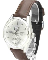 Tag Heuer Silver Stainless Steel Carrera Calibre 8 Gmt Automatic War5011 Wristwatch 41 Mm - Metallic