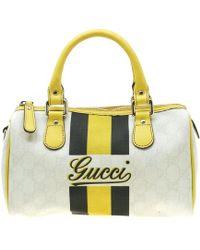 1708f6b39 Gucci Tian Soft Gg Supreme Tote in Natural - Lyst