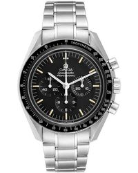 Omega Black Stainless Steel Speedmaster Moonwatch Calibre 861 145.022 Men's Wristwatch 42 Mm
