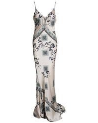 Roberto Cavalli - Pale Silk Floral Print Sleeveless Maxi Dress M - Lyst b6905f93b